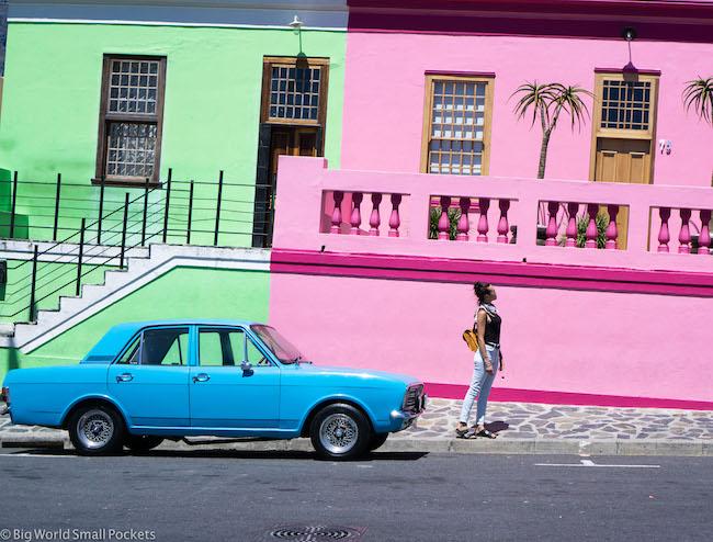 South Africa, Cape Town, Bo Kaap & Car