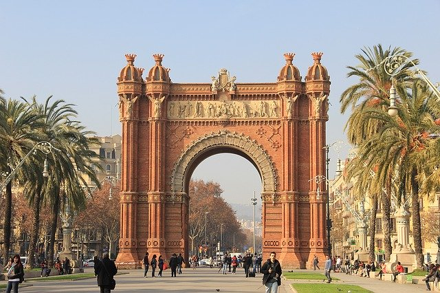 Spain, Barcelona, Arch