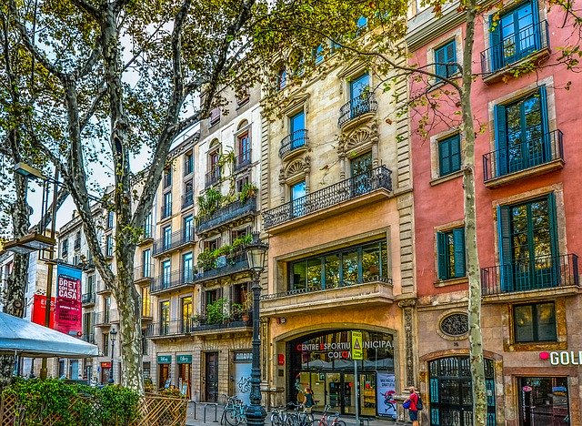 Spain, Barcelona, Buildings