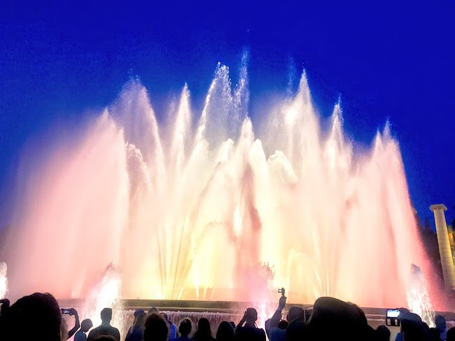 Spain, Barcelona, Montjuic Fountains
