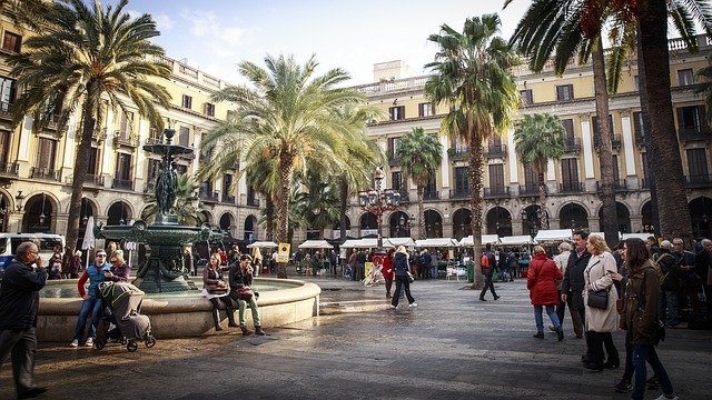 Spain, Barcelona, Square