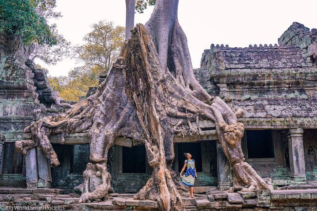 Cambodia, Angkor, Me Under Trees