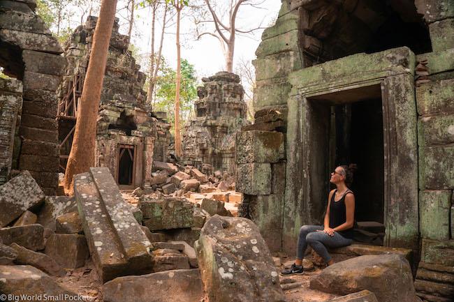 Cambodia, Angkor Wat, Me in Doorway