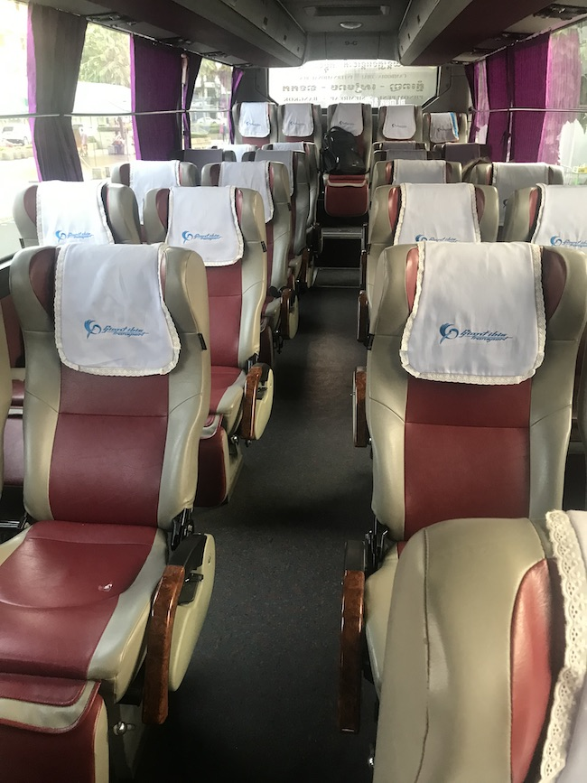 Bangkok to Siem Reap, Giant Ibis, Bus Seats