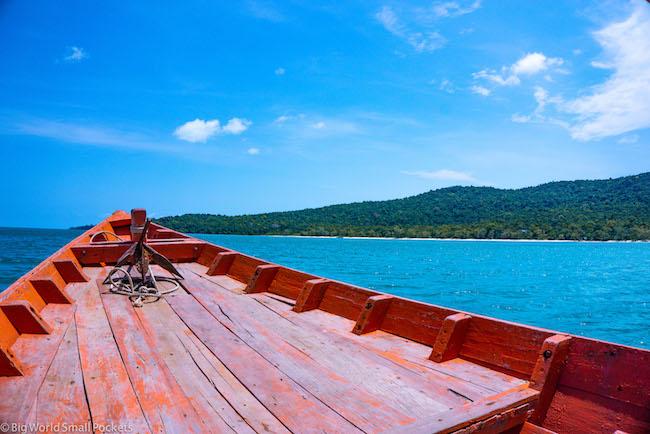 Cambodia, Koh Rong Sanloem, Boat