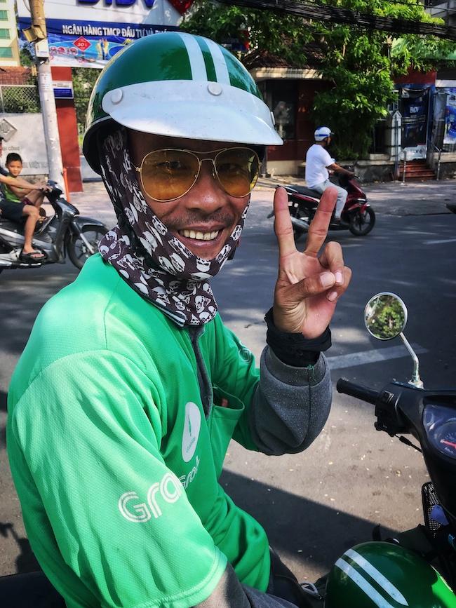 Vietnam, Ho Chi Minh, Grab Driver
