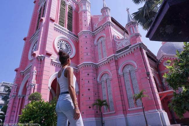 Vietnam, Ho Chi Minh, Pink Church