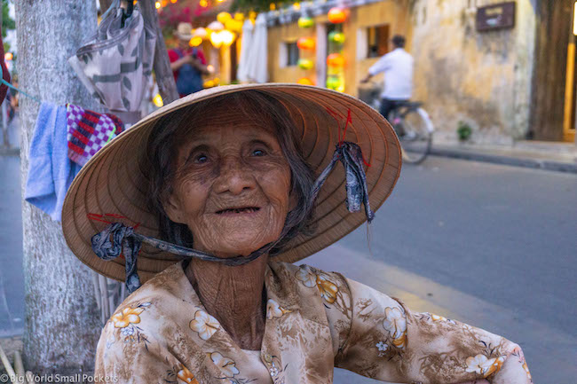 Vietnam, Hoi An, Old Lady
