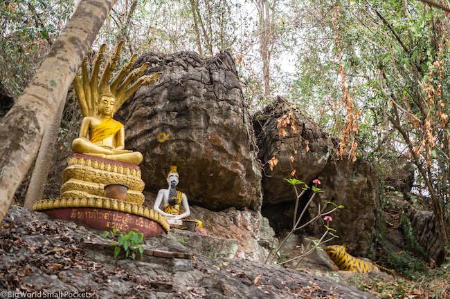 Laos, Luang Prabang, Buddhist Statues