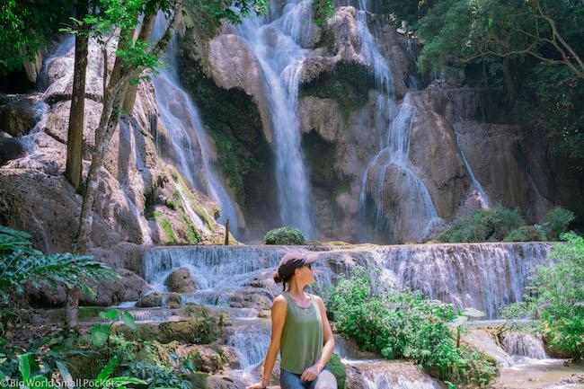 Laos, Luang Prabang, Kuang Si Waterfall