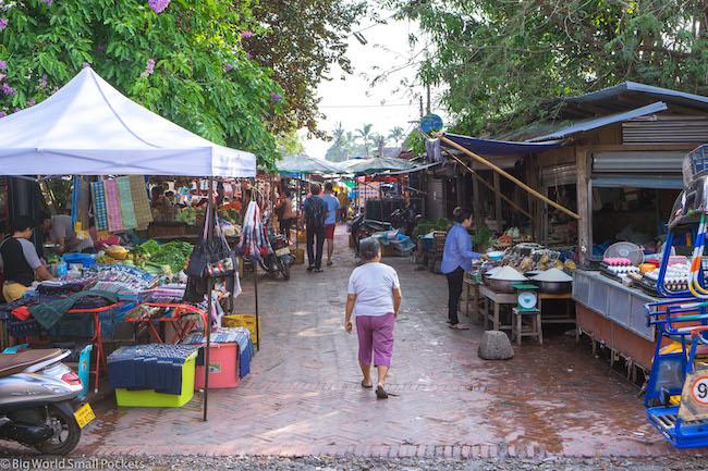Laos, Luang Prabang, Local Market