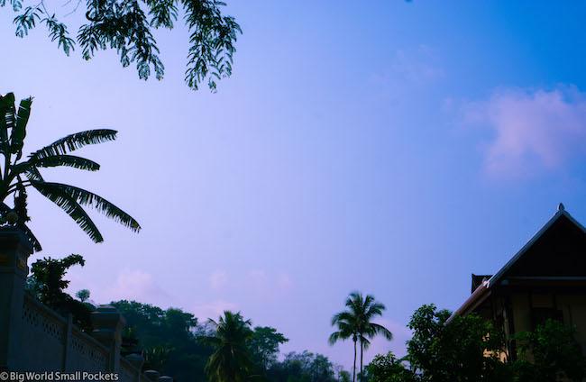 Laos, Luang Prabang, Sunset Sky