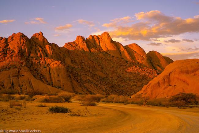 Namibia, Spitzkoppe, Sunset