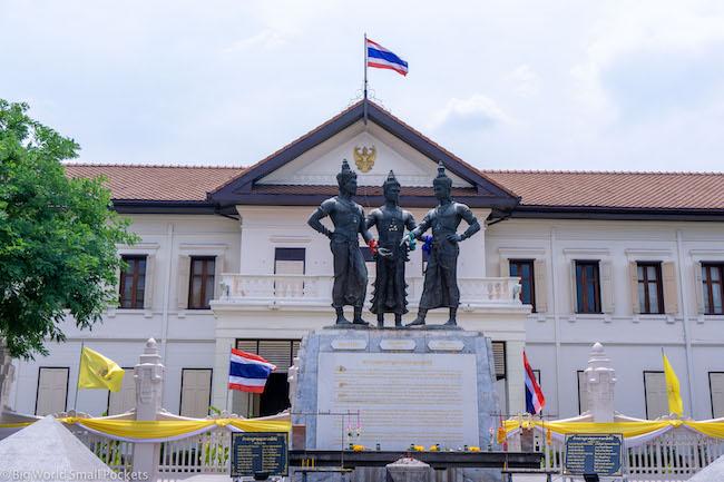 Thailand, Chiang Mai, 3 Kings Monument