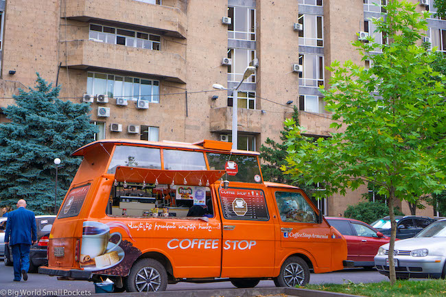Armenia, Yerevan, Coffee Carts
