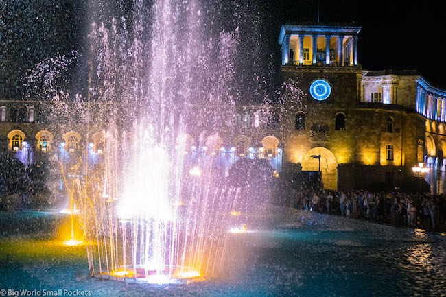 Armenia, Yerevan, Fountain Show