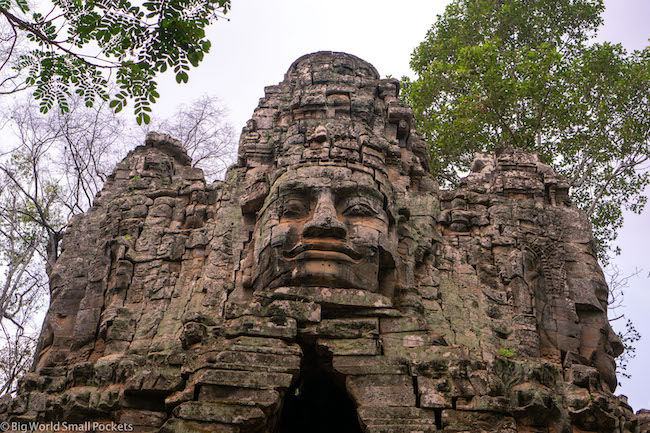 Cambodia, Angkor, Temple Faces