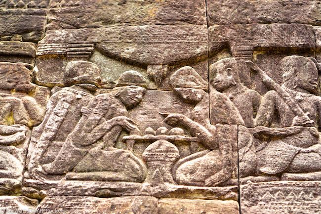 Cambodia, Angkor Wat, Engravings 2