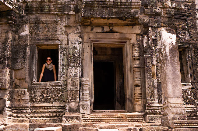 Cambodia, Angkor Wat, Me in Window
