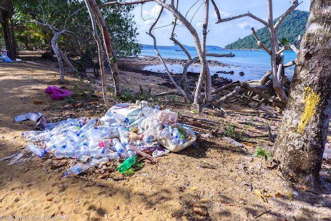 Cambodia, Koh Rong, Plastic Trash