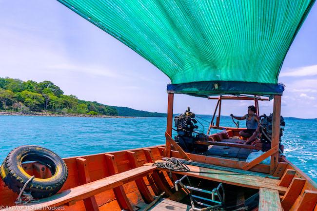 Cambodia, Konh Rong, Boat