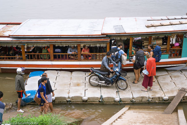 Chiang Rai to Luang Prabang, Mekong River, Boarding Boat