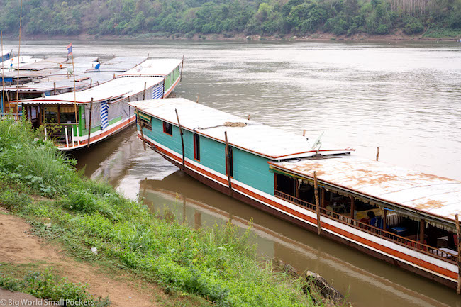 Chiang Rai to Luang Prabang, Mekong River, Local Boat