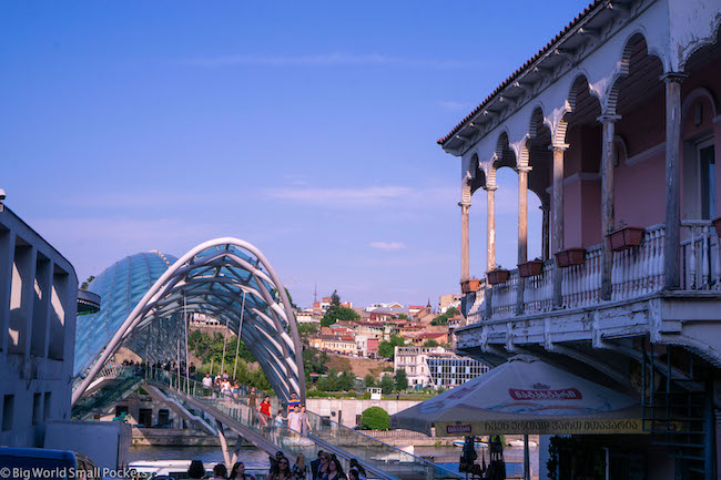 Georgia, Tbilisi, Peace Bridge