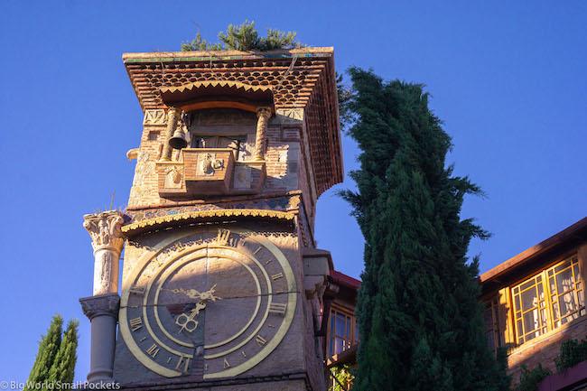 Georgia, Tbilisi, Wonky Clock