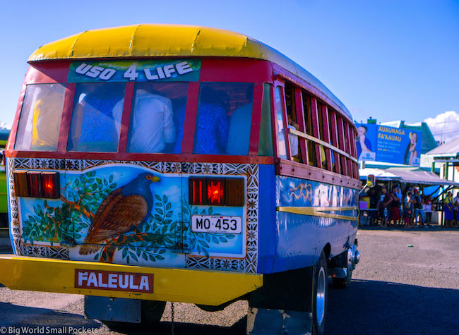 Samoa, Local Bus, Paintwork