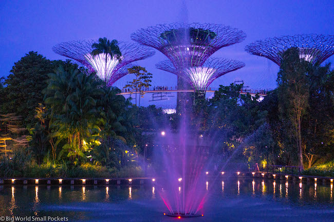 Singapore, Gardens By The Bay, Nightime