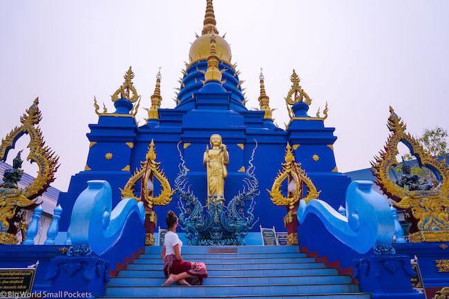Thailand, Chiang Rai, Blue Temple
