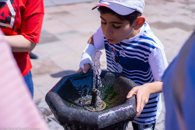 Armenia, Fountain, Boy Drinking