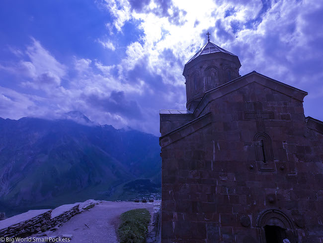 Georgia, Kazbegi, Gergeti Church