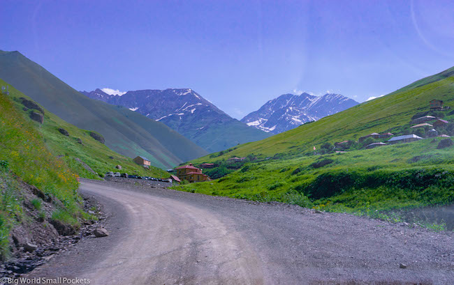 Georgia, Kazbegi, Road
