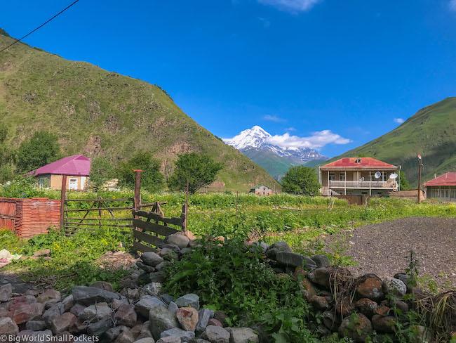Georgia, Kazbegi, Village Life
