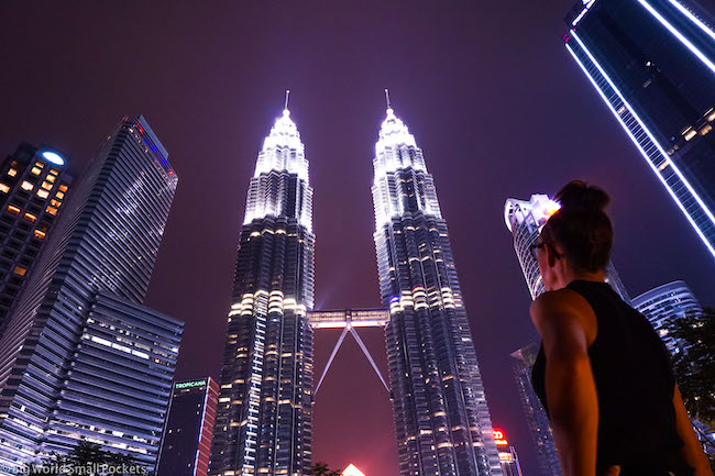 Malaysia, Kuala Lumpur, Me at Towers