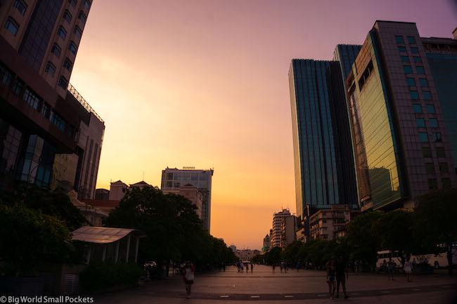 Vietnam, Ho Chi Minh, Sunset