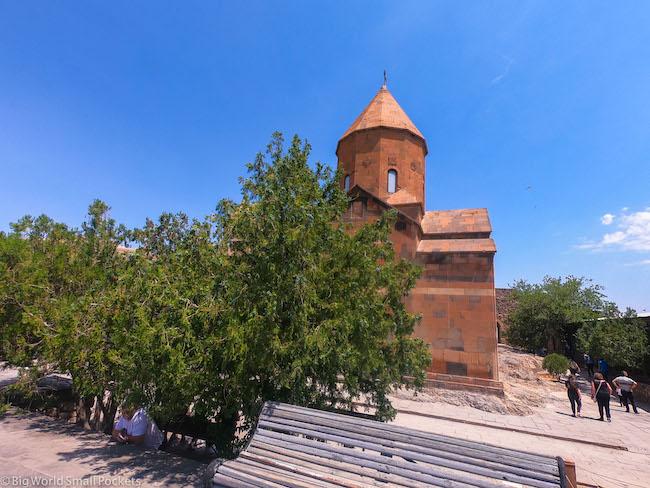 Armenia, Monastery, Blue-Sky.