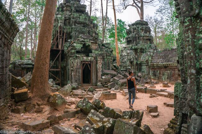 Cambodia, Angkor, Me in Ruins