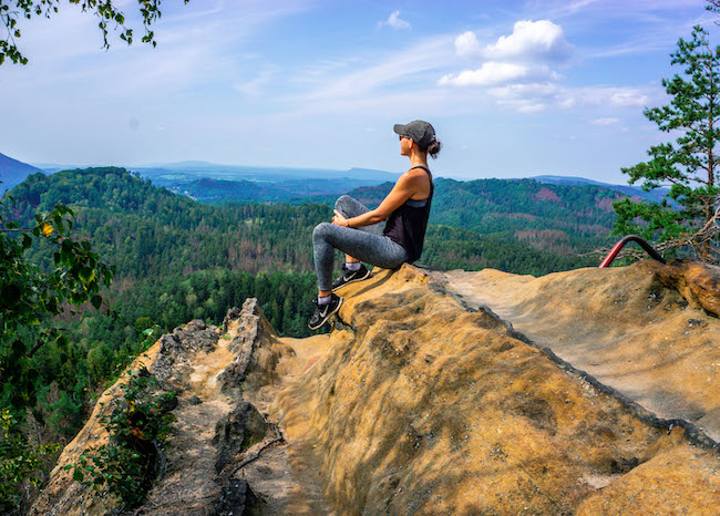 Czech Republic, Bohemian Switzerland, Me and View