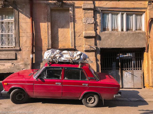 Georgia, Tbilisi, Red Car