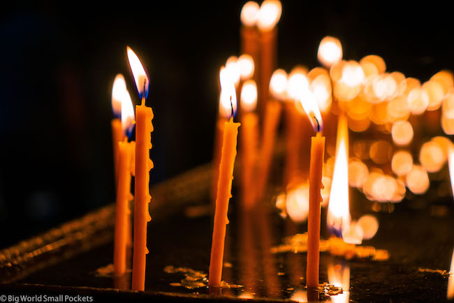 Armenia, Geghard, Candles