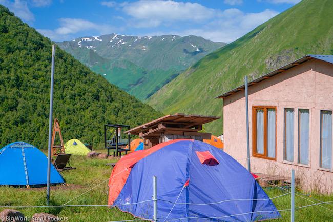 Georgia, Kazbegi, Zeta Camping