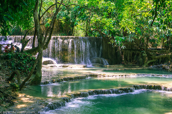 Laos, Waterfall, Green