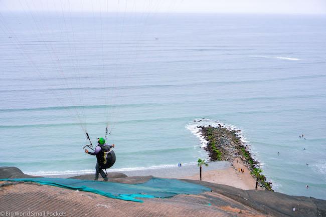 Lima, Barranco, Paragliding