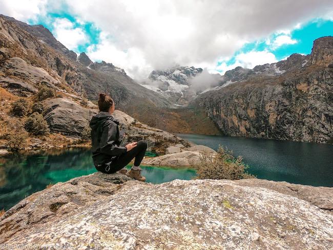 Peru, Huascaran National Park, Laguna Churup
