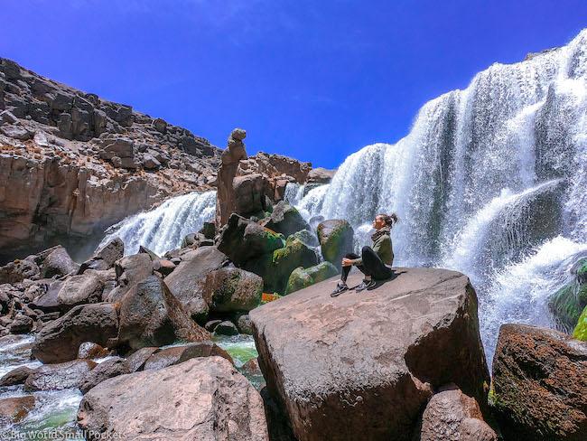 Peru, Reserva Salinas, Waterfall