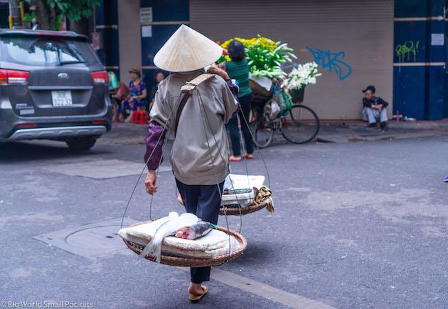 Vietnam, Hanoi, Hawker