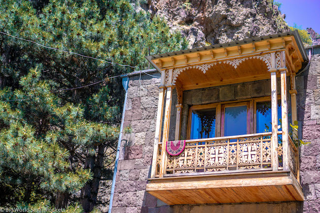 Armenia, Geghard, Balcony